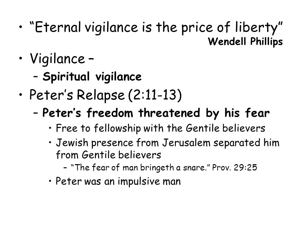 Eternal vigilance is the price of liberty essay, essay oil