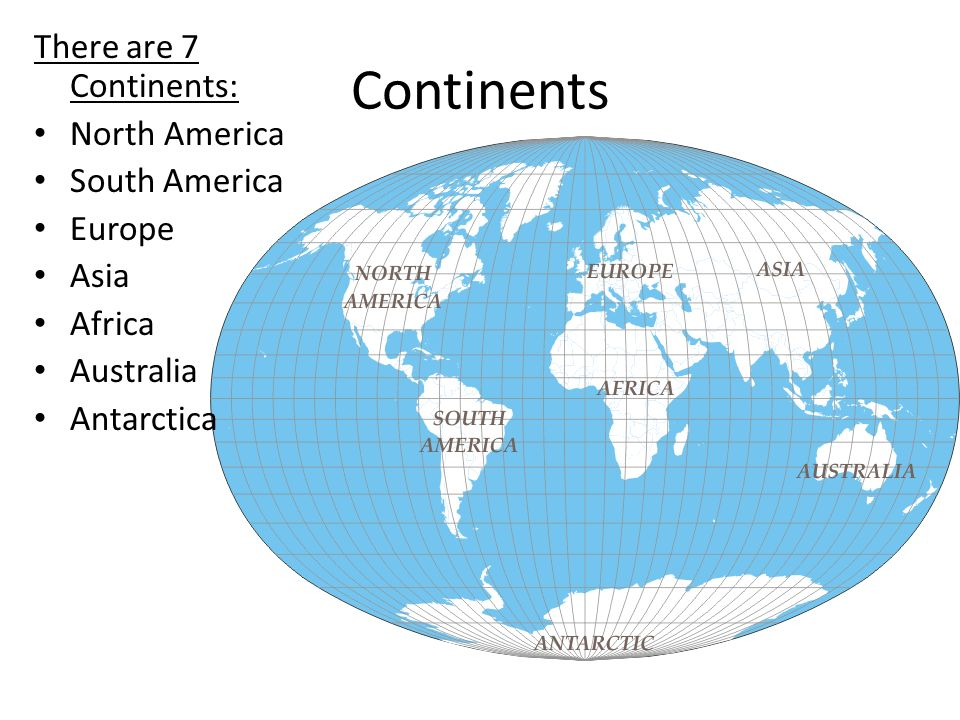Mapping continents there are 7 continents north america south 2 continents there are 7 continents north america south america europe asia africa australia antarctica sciox Choice Image
