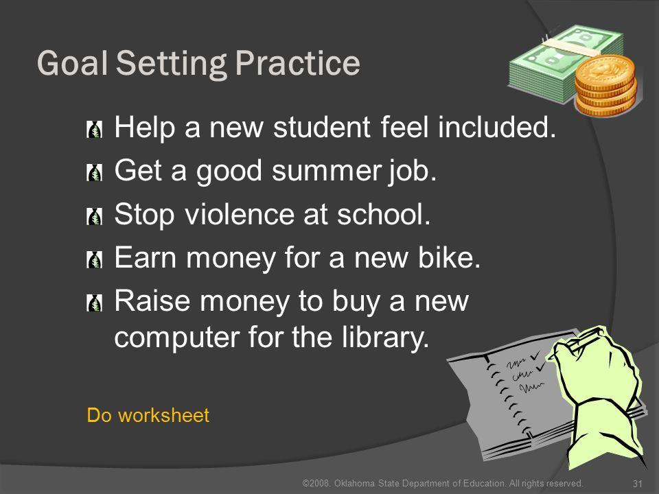 goal setting in practice