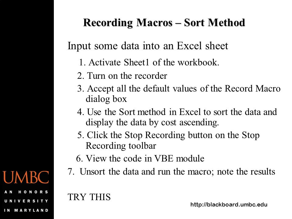 intro to macro notes Ata conference 2005: session tac-7 introduction to word macros and their applications abstract: macros can assist with common tasks and are tools for.