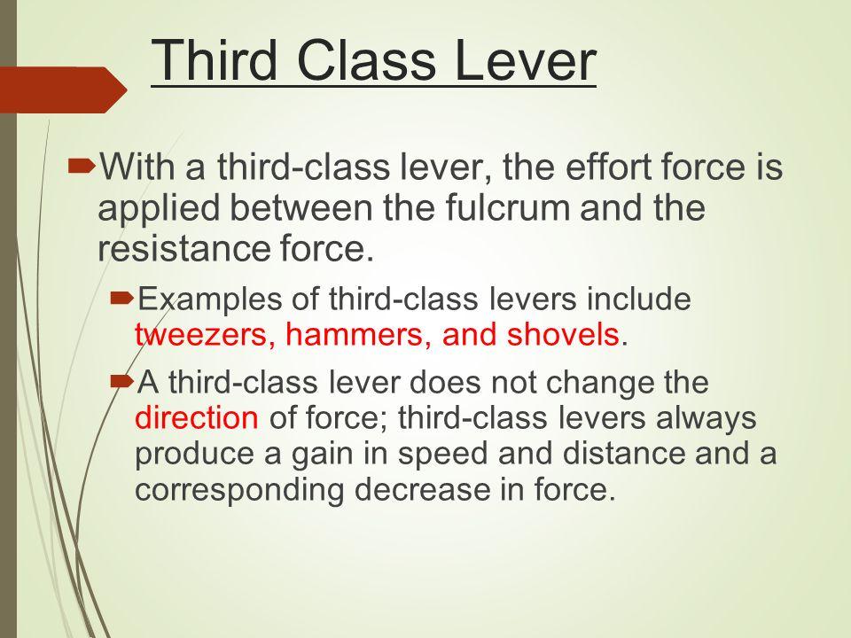 Is a shovel a second-class lever?