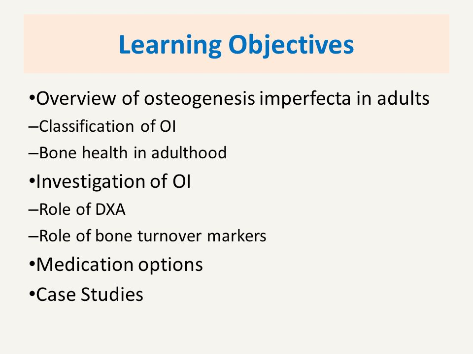Excited too Osteogenesis in adults