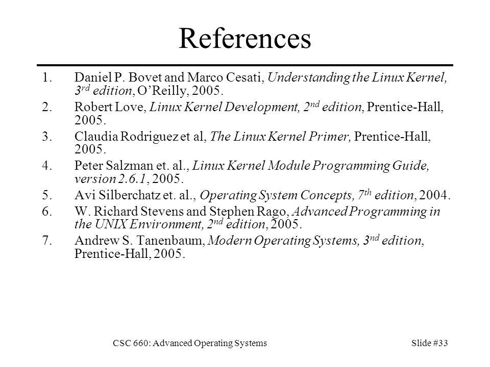 CSC 660: Advanced Operating SystemsSlide #1 CSC 660: Advanced OS ...