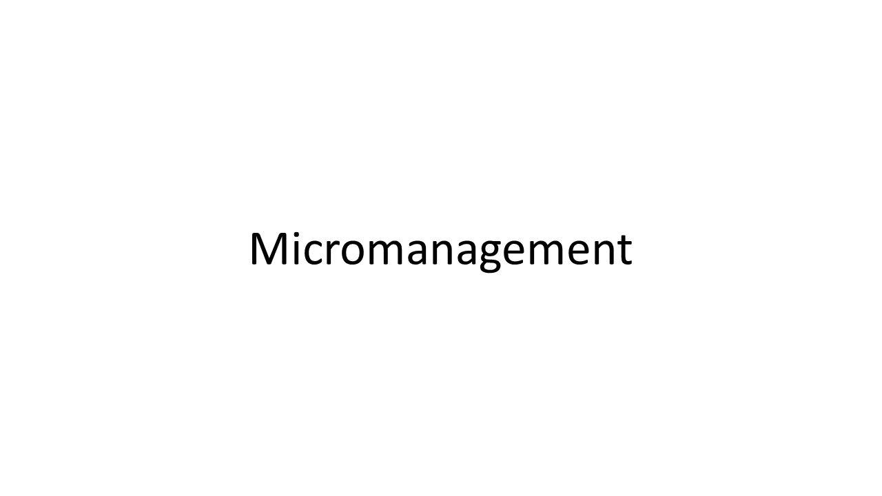 Micromanagement
