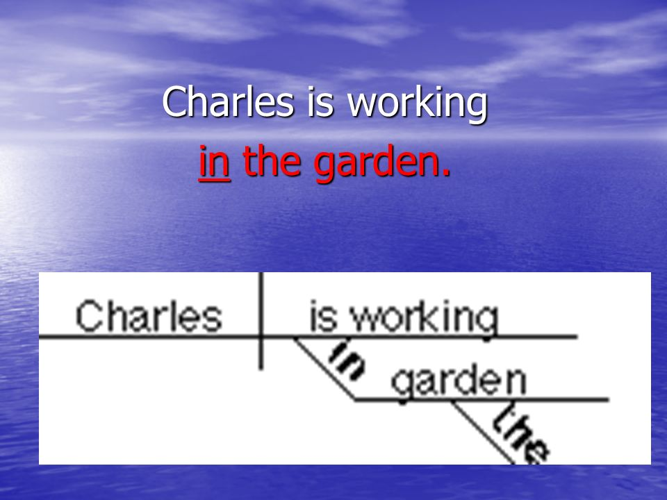 Charles is working in the garden.