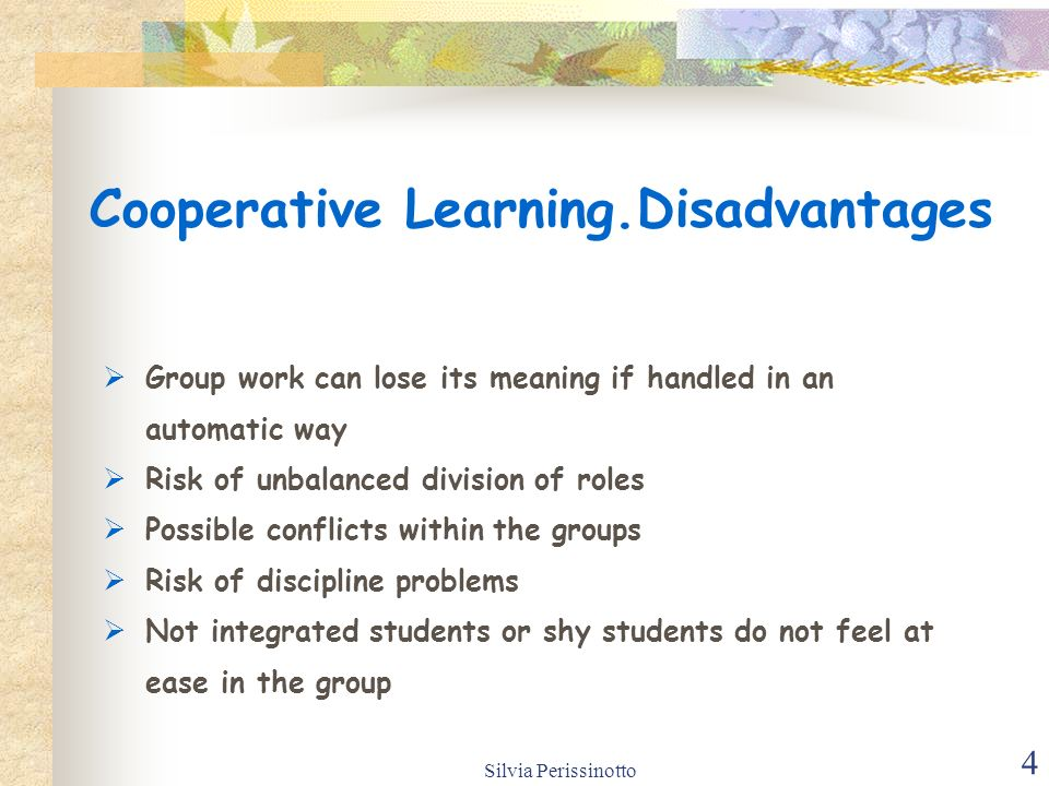 What are the advantages of working in groups in class?