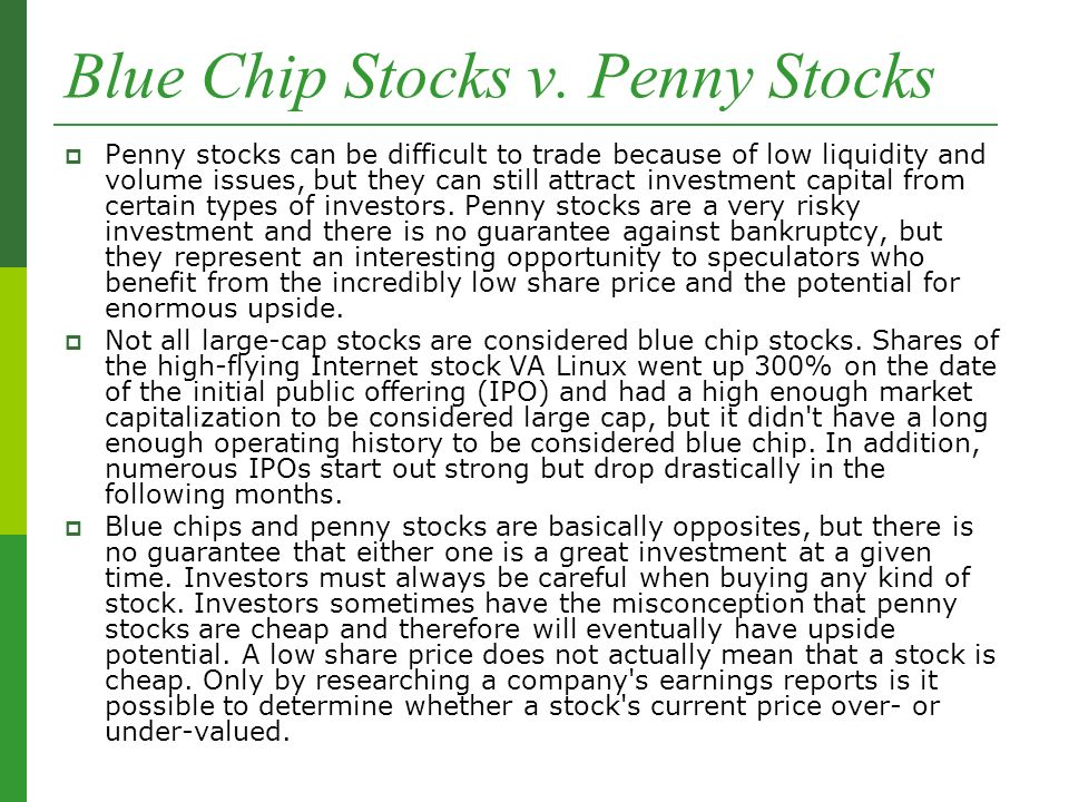 Blue Chip Stocks v.