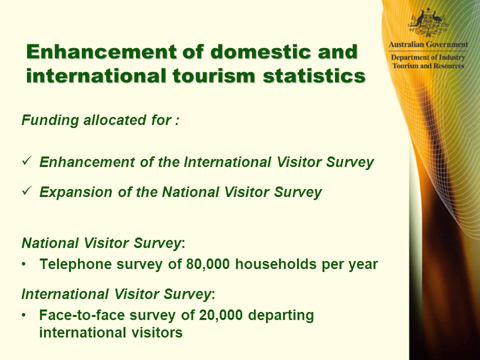outlook of domestic and international tourism Spending by international visitors in ireland grew by up to 6% to reach €49 billion domestic tourism revenue is expected to generate €19 billion, with a further.