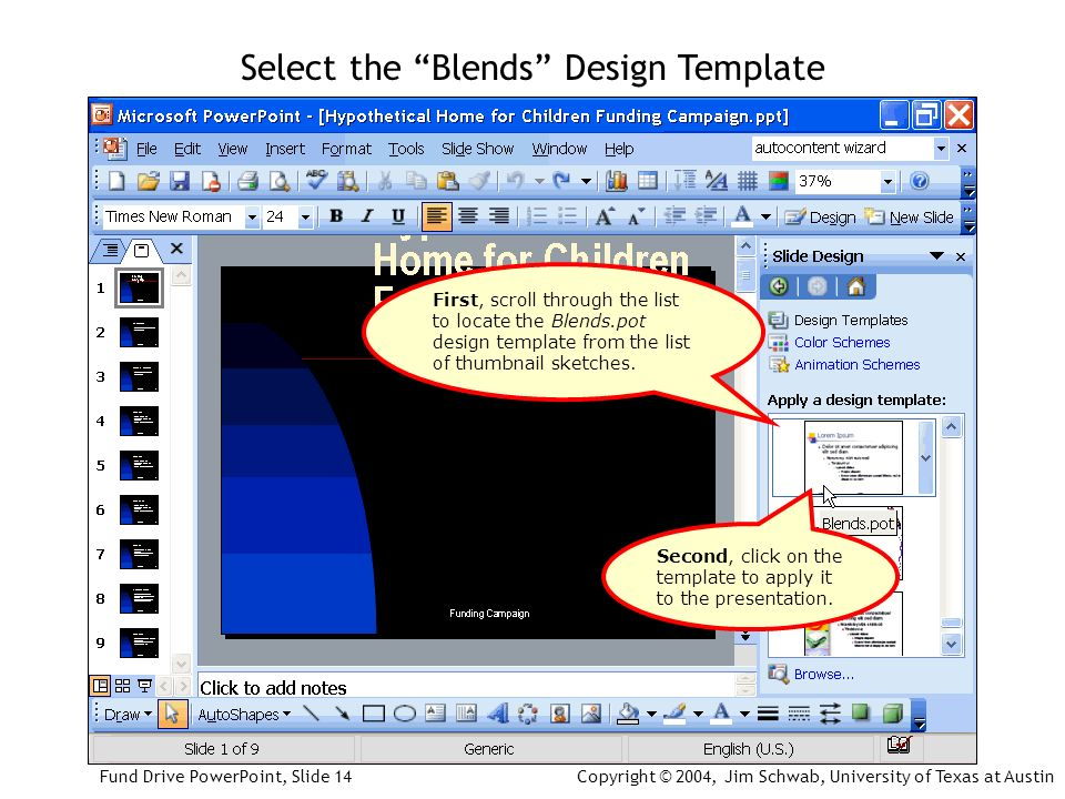 Agency powerpoint presentation fund drive powerpoint slide first scroll through the list to locate the blendspot design template from the toneelgroepblik Choice Image