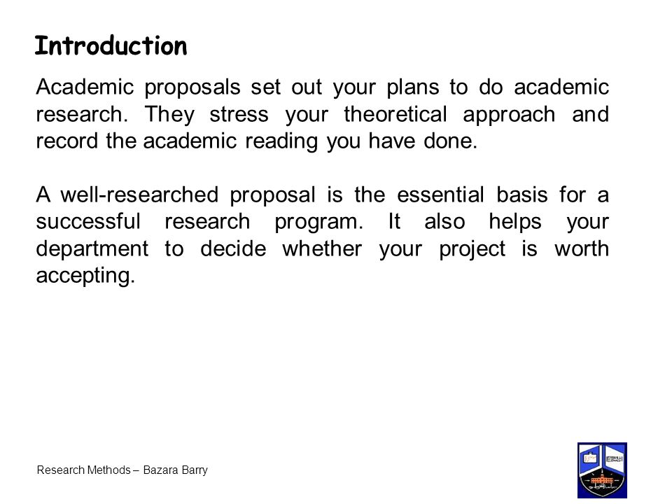 academic research proposal