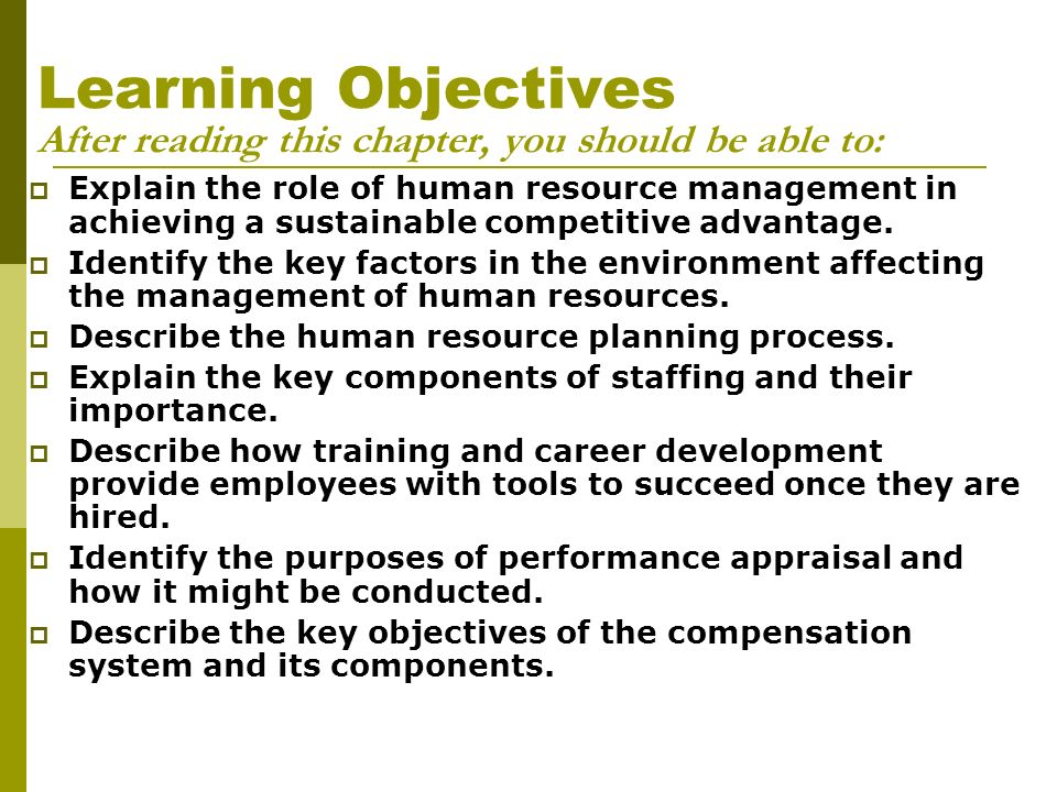 key components of human resource development