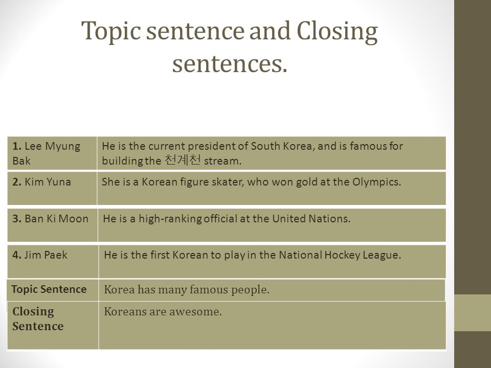 What is a good 5 sentence introduction for writing an essay on South Korea.?