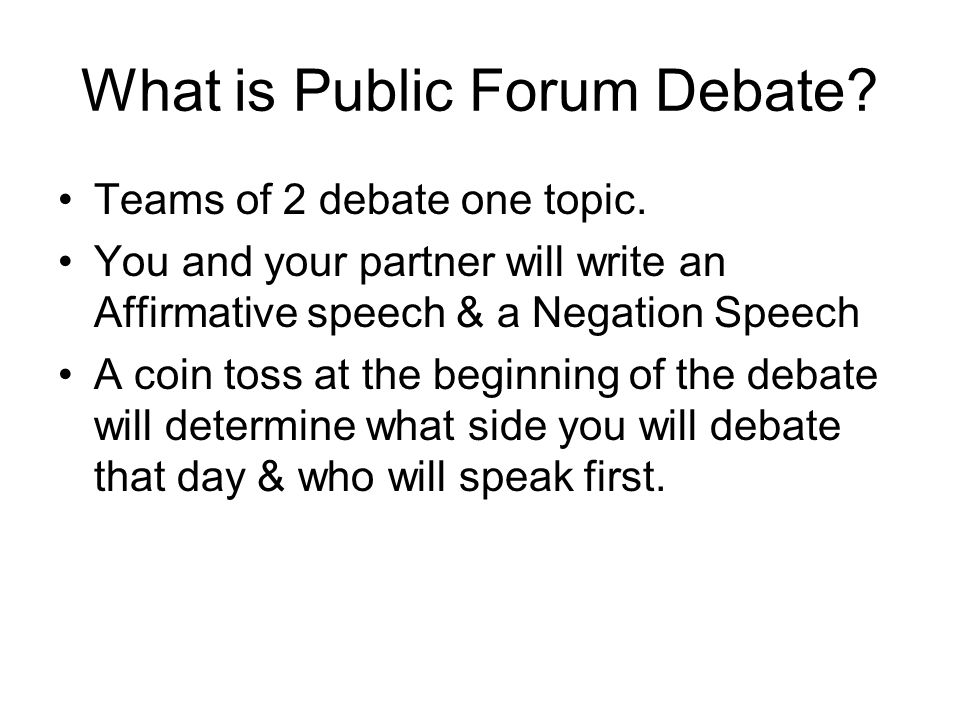 How to write a speech for a debate