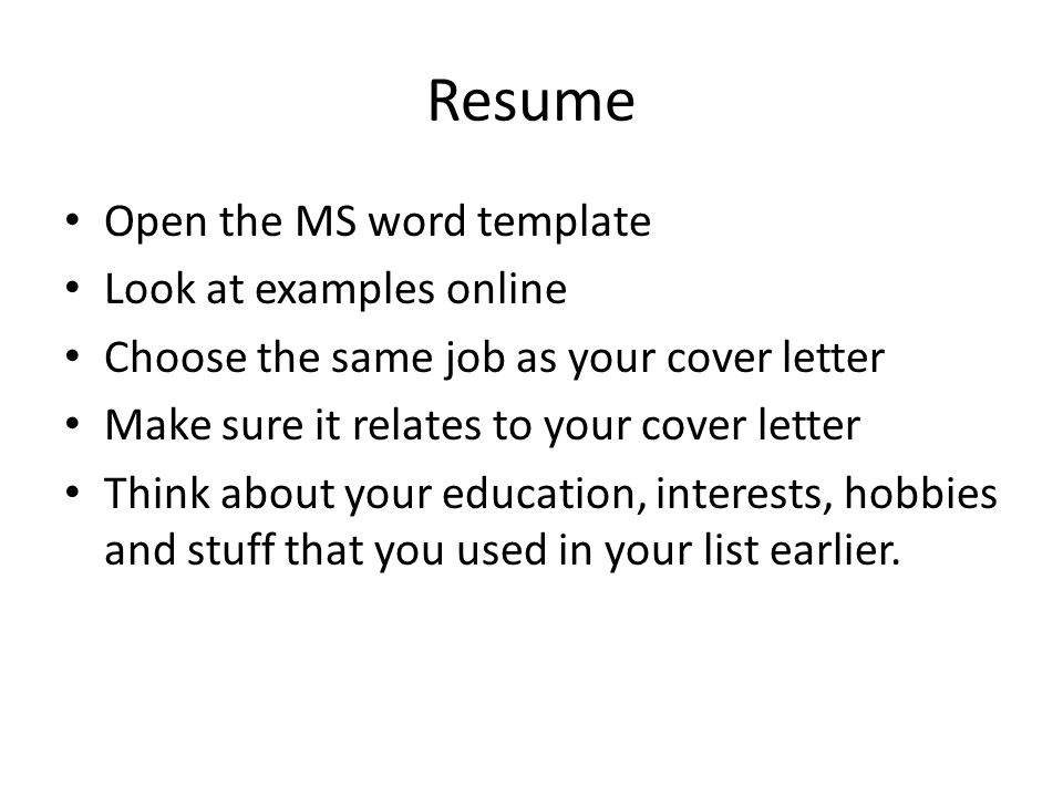 interest and hobbies for resumes