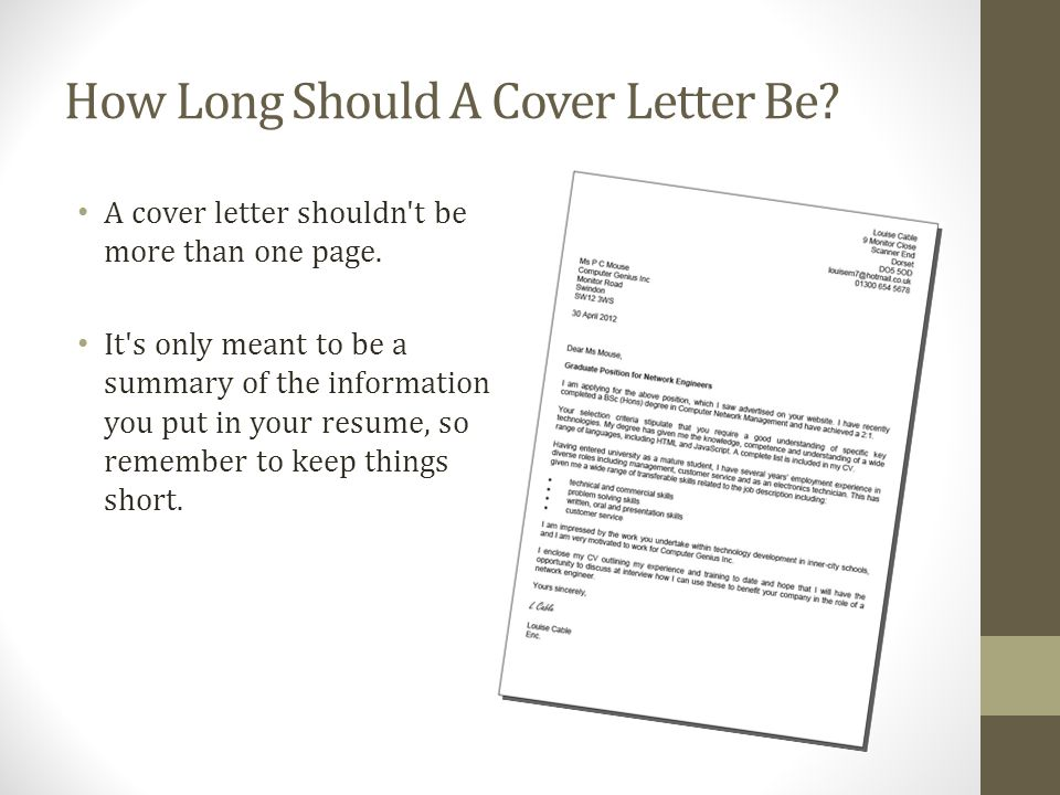 Are Cover Letters Only Supposed To Be One Page Ibov