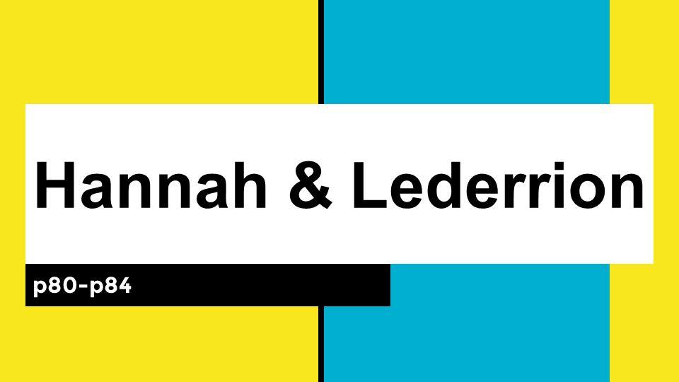 Hannah & Lederrion p80-p84
