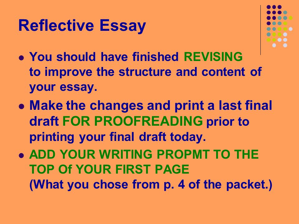 fri mar good morning english good morning please  2 reflective essay you