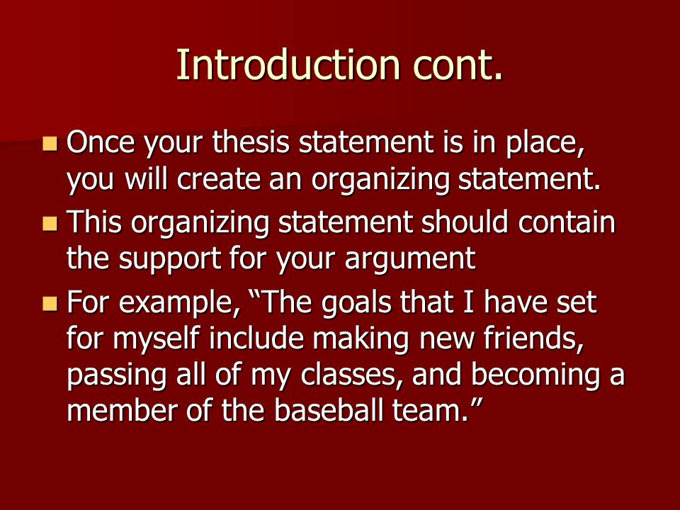 what a thesis statement should have The thesis statement is the center around which the rest of your paper revolves it is a clear, concise statement of the position you will defend.