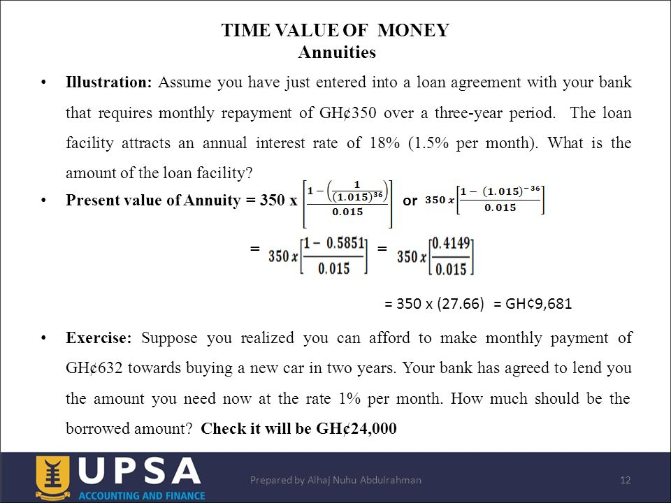 time value of money and annual Instantly calculate what a one-time investment of money will grow to given the compound rate and interval, and number of periods includes growth chart.