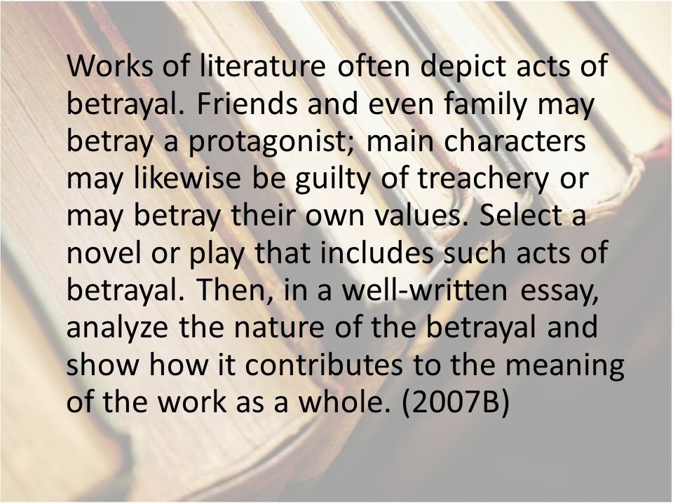 essays on betrayal of friends