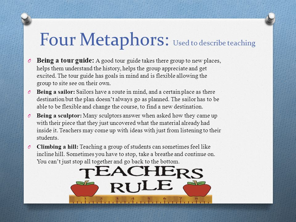 Metaphors For Teaching - Lawteched