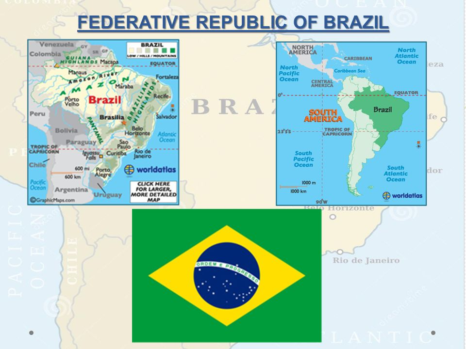 Notes Brazil And Colombia South America Map HW Missing - Federative republic of brazil map