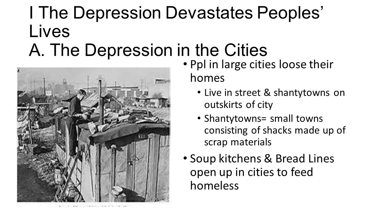 Hardships & Suffering During the Depression Chapter 22 Section ppt ...