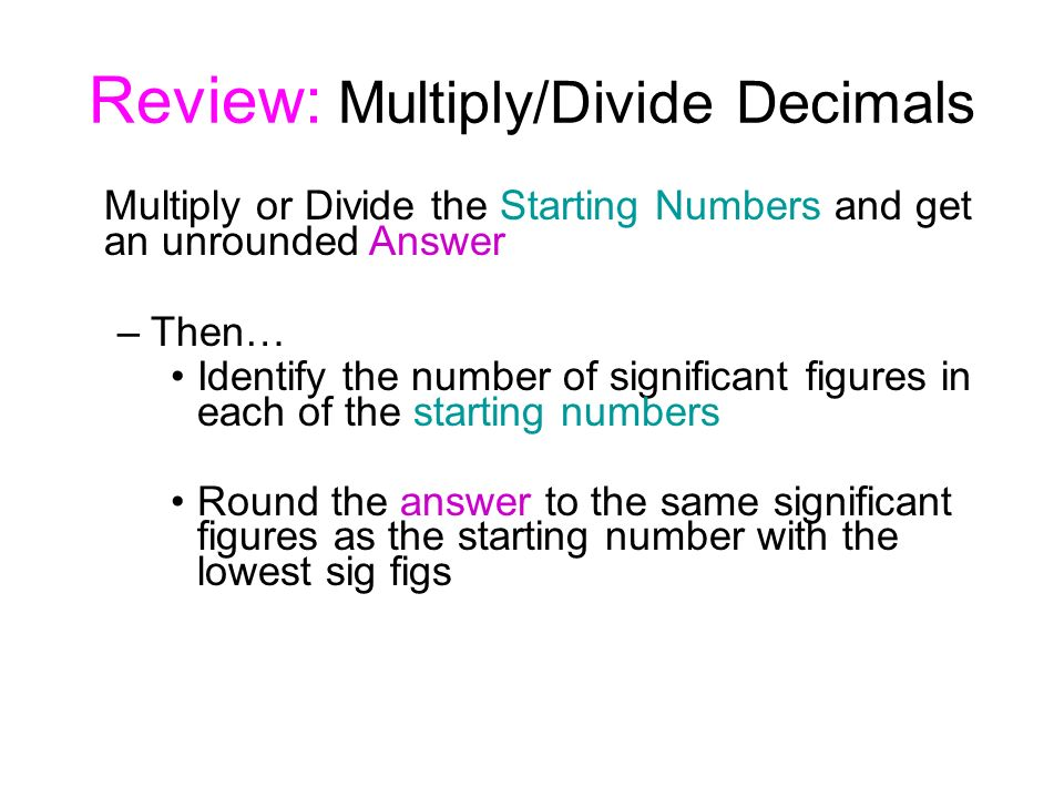 Significant Figures Multiplication And Division Rules Example 1 1
