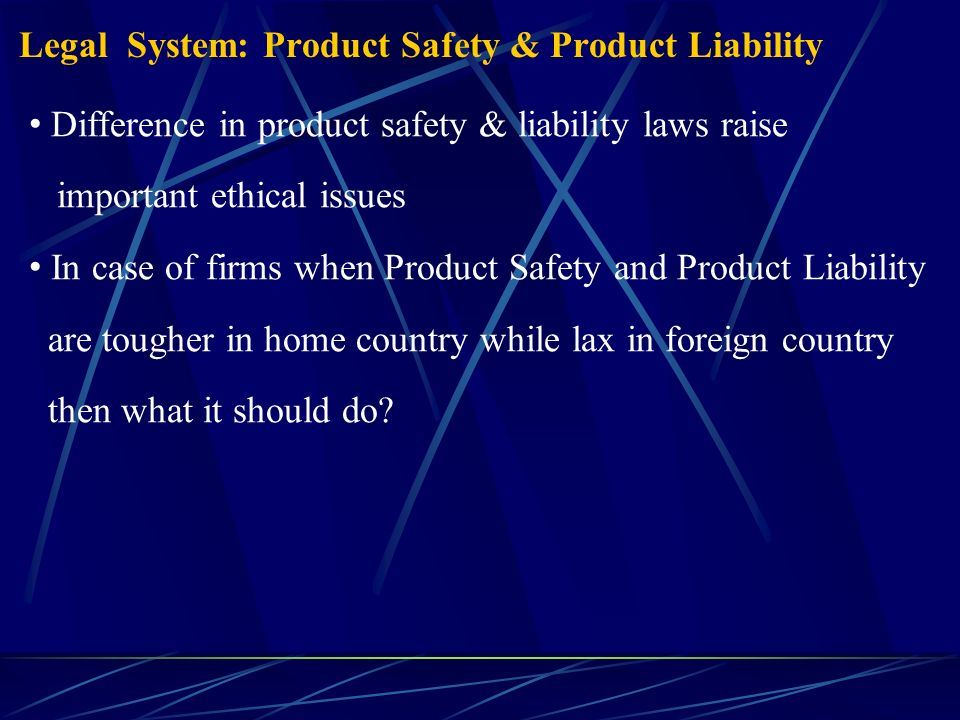 product liability business ethics Gary t schwartz,ethics and the economics of tort liability insurance, 75cornelll 11 see ford tells sec of billions in possible product liabilities, la.