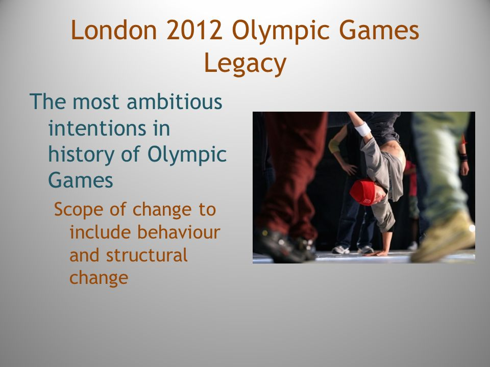 the legacy of the olympics 2012 essay As london 2012 draws to a close the questions of legacy and how to measure the games' impact emerge as present tense issues in this week's friday essay.