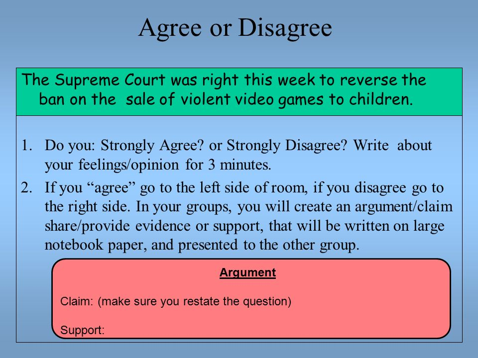 agreeing and disagreeing essay To what extent to you agree or disagree ielts writing task 2 - agree or disagree october 07, 2017 agree or disagree essay.