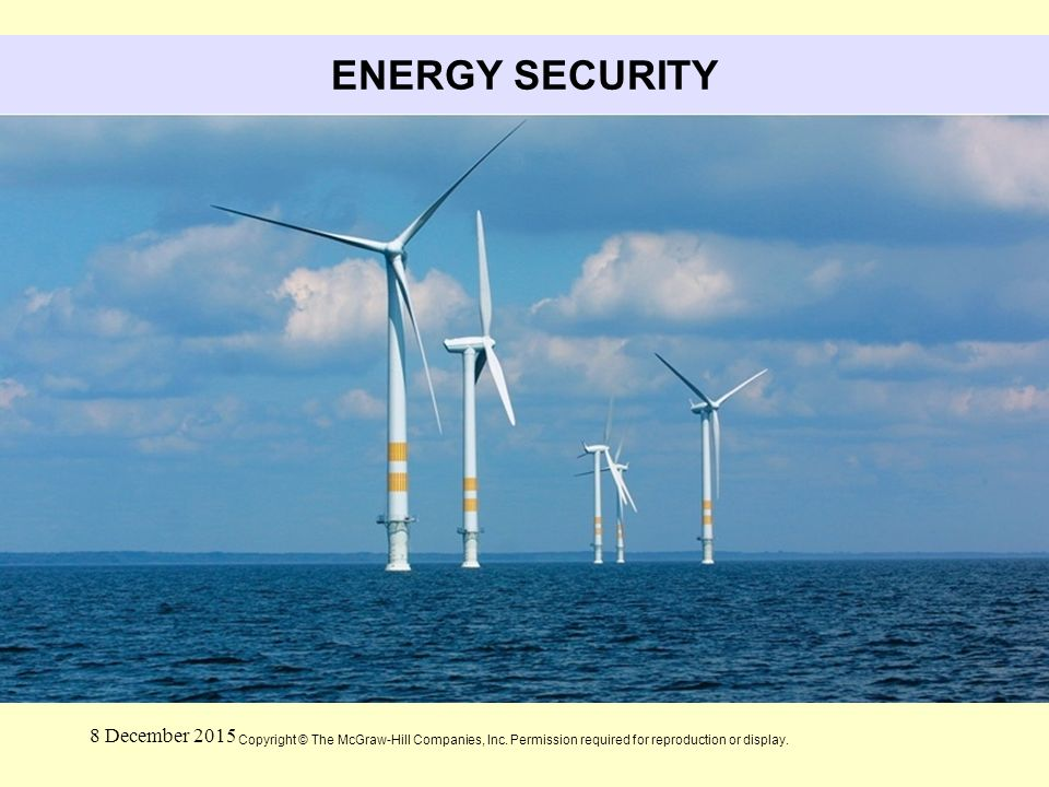 ENERGY SECURITY Copyright © The McGraw-Hill Companies, Inc.
