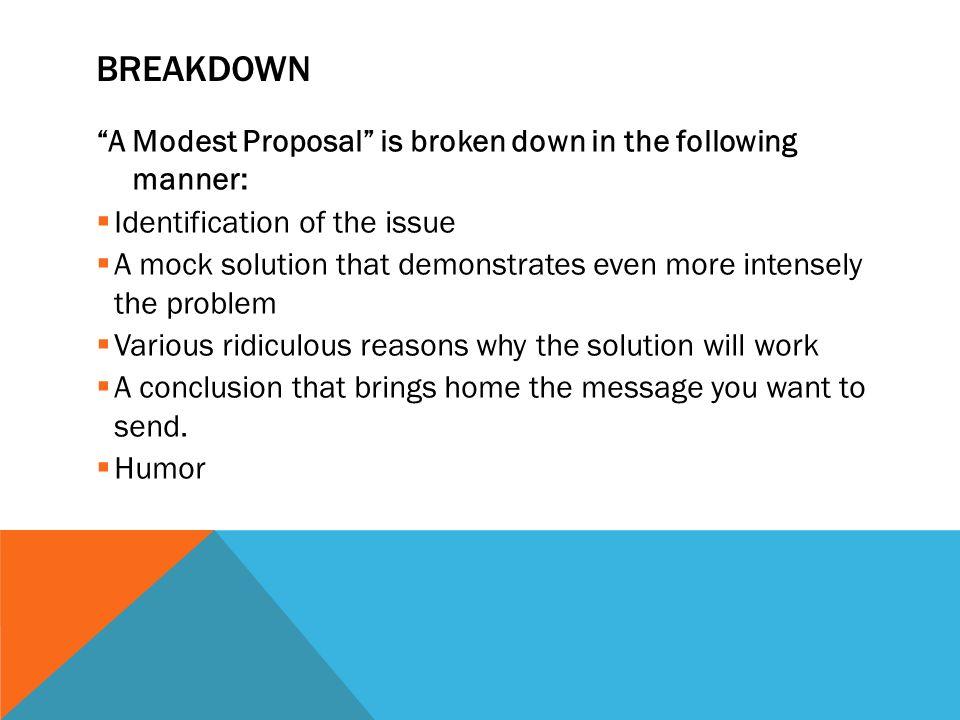 A Modest Proposal Jonathan Swift 1729 Background Breakdown