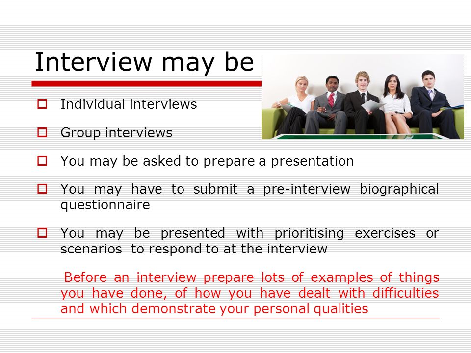 scenarios for interviews