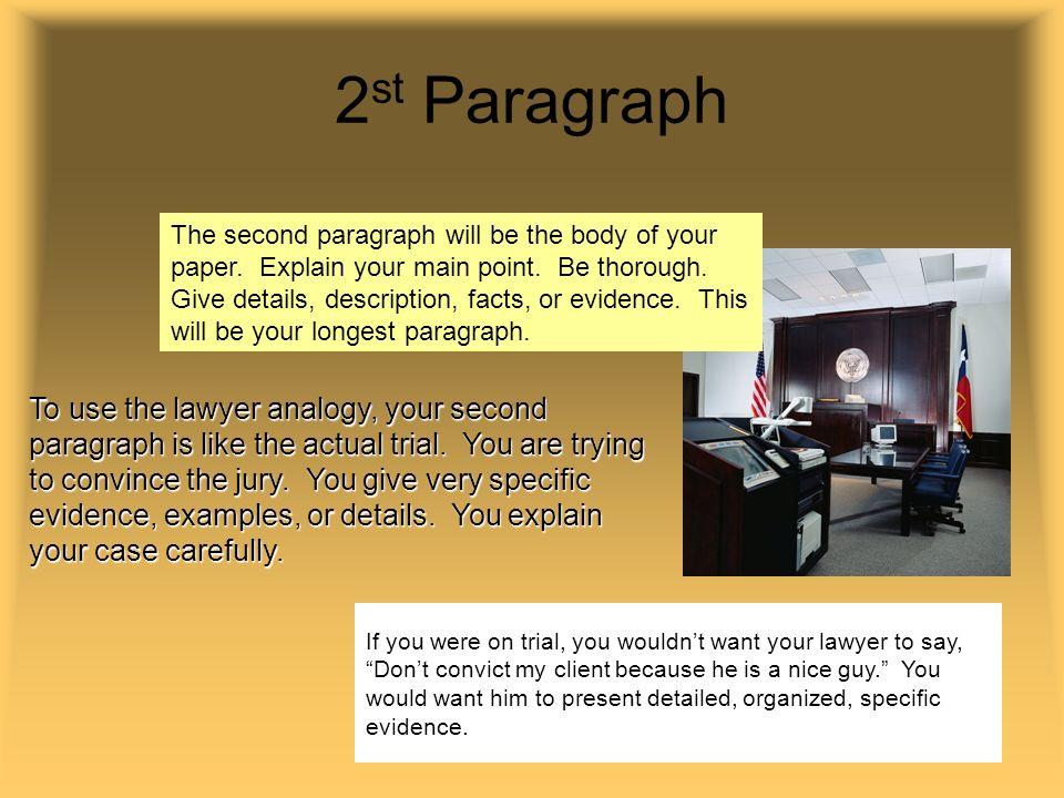 Write a three paragraph essay