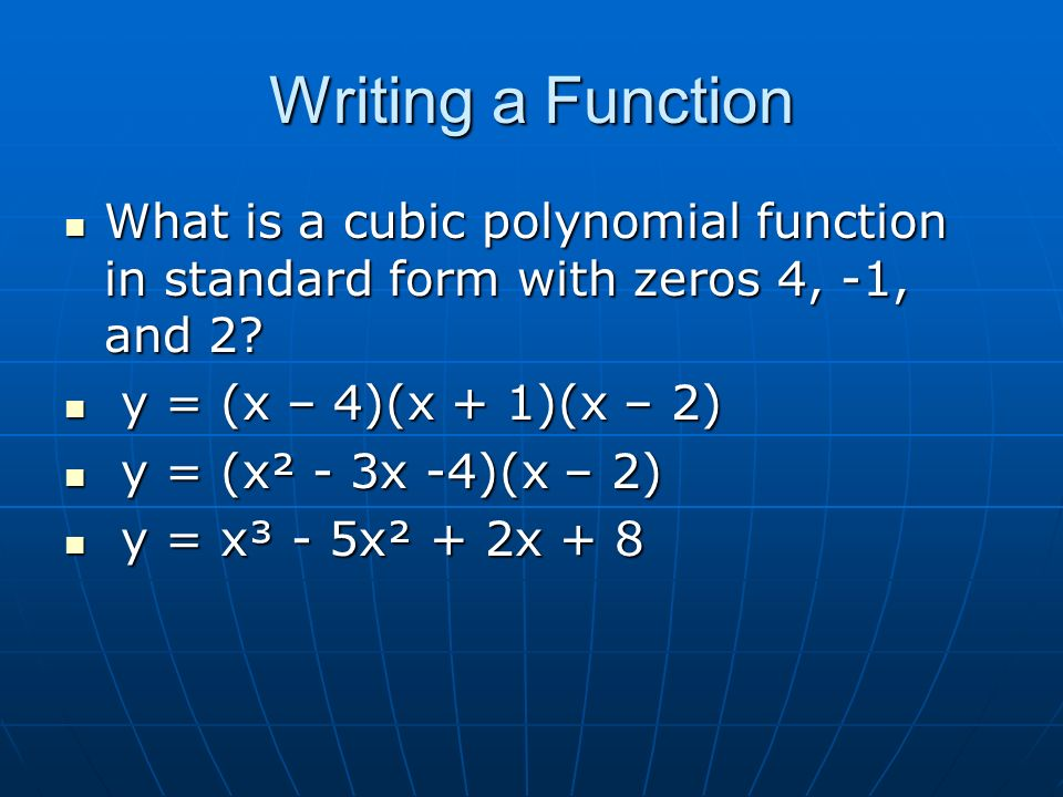 Ha2 Ch 5 Review Polynomialsand Polynomial Functions Ppt Download