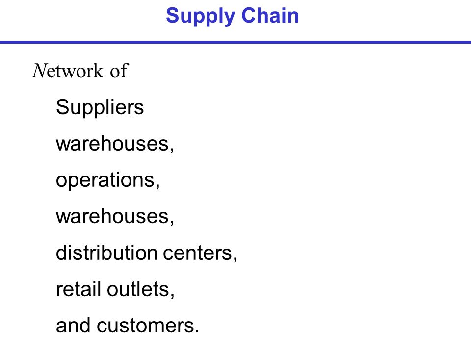 Network of Suppliers warehouses, operations, warehouses ...