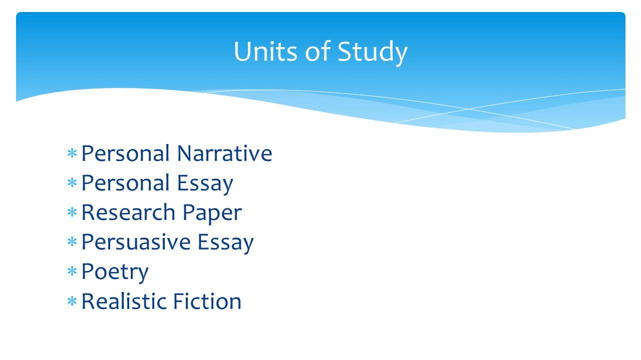 can research paper narrative
