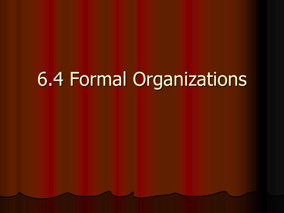 6.4 Formal Organizations