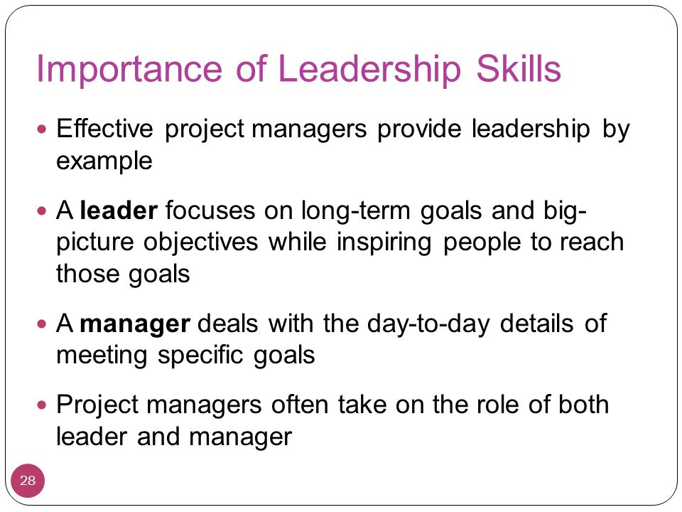 importance of management and leadership for