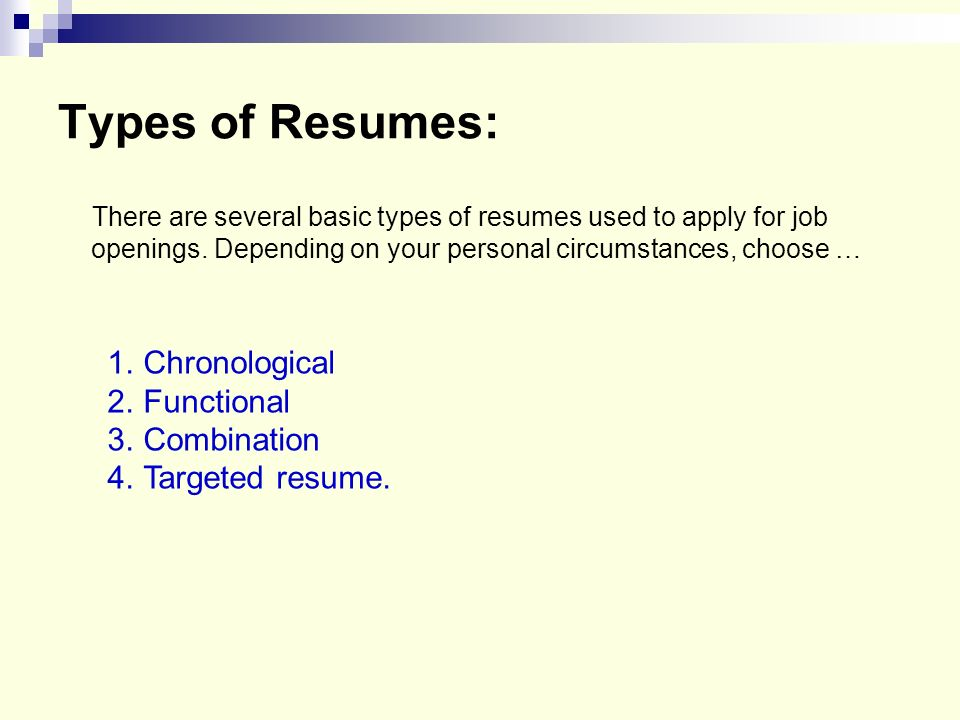 Resume Format And How To Choose The Best Resume Format For Your Career  Story Best Resume  4 Types Of Resumes