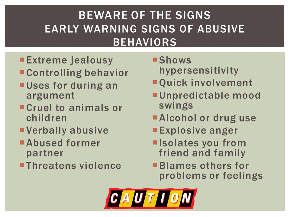 Signs Of Controlling Behavior In Men