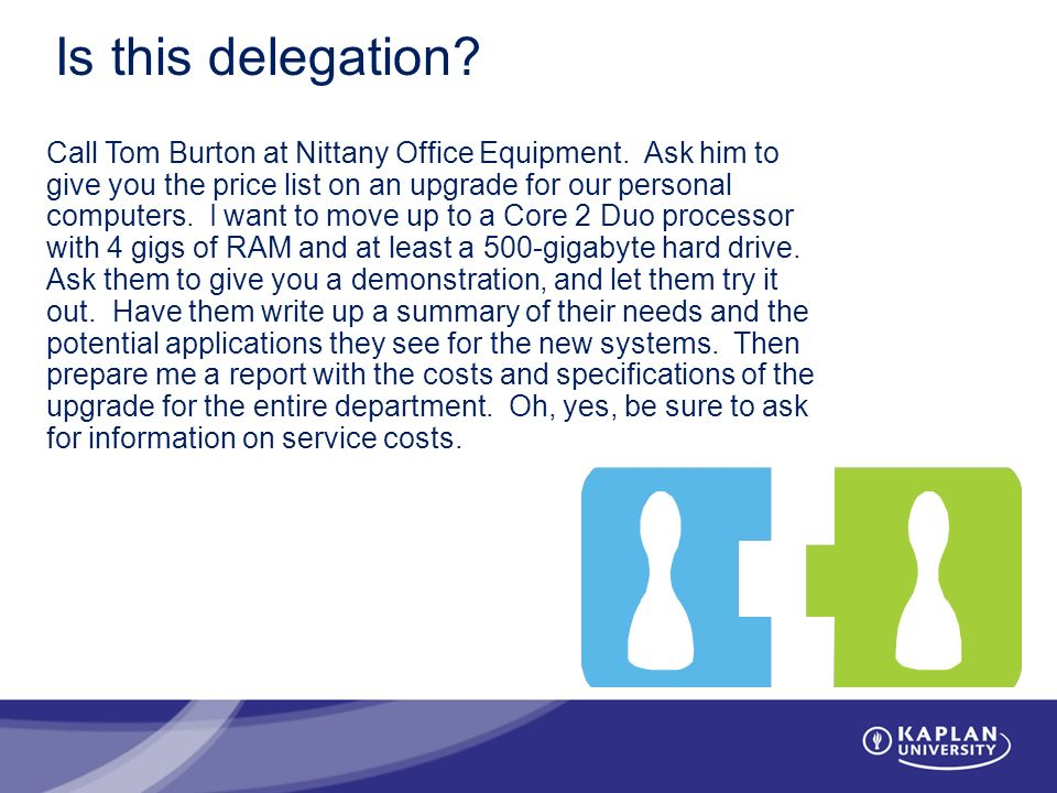 Is this delegation. Call Tom Burton at Nittany Office Equipment.