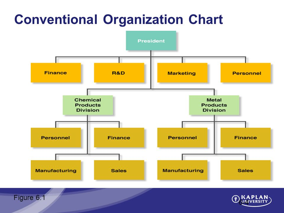 Conventional Organization Chart 6-4 Figure 6.1