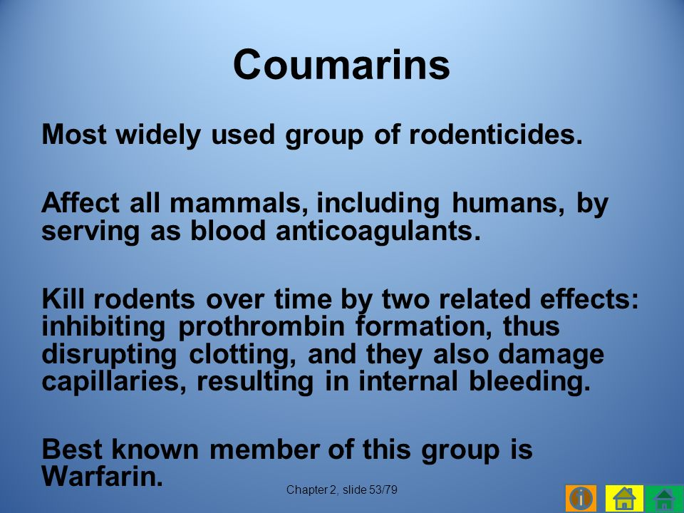 Most widely used group of rodenticides.