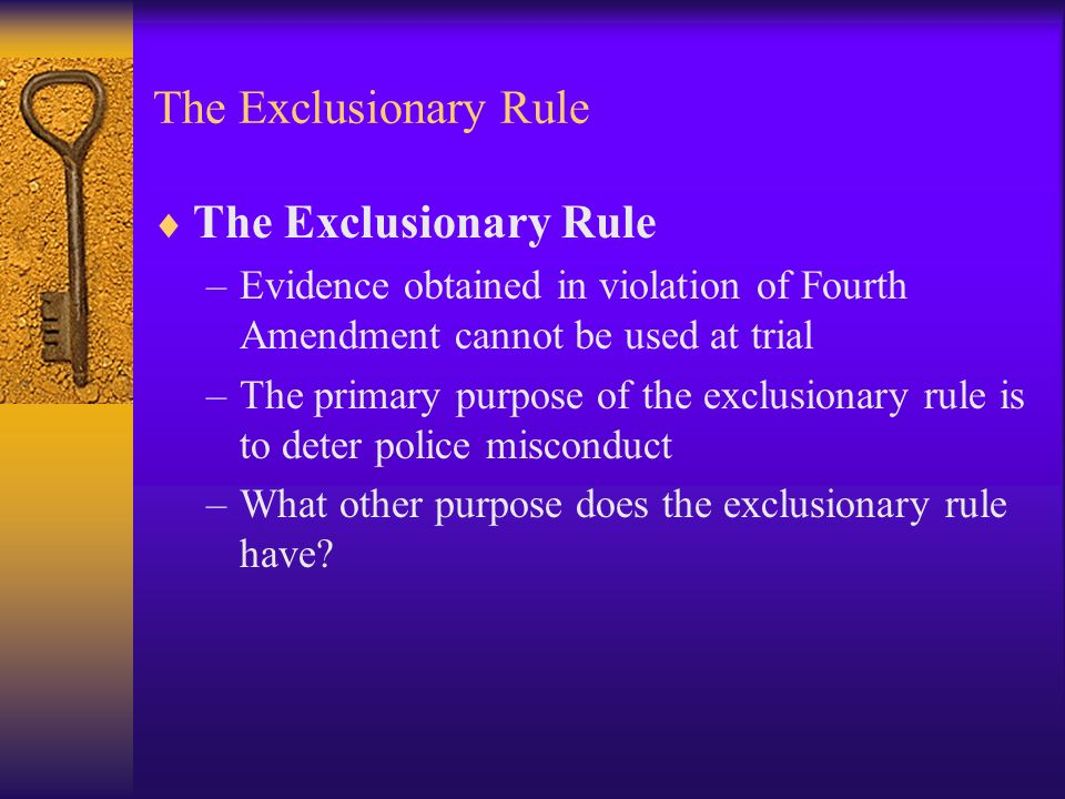 us exclusionary rule essay The exclusionary rule evaluation law constitutional administrative essay exclusionary rule evaluation by: brandon j graham cja-364 university of phoenix.