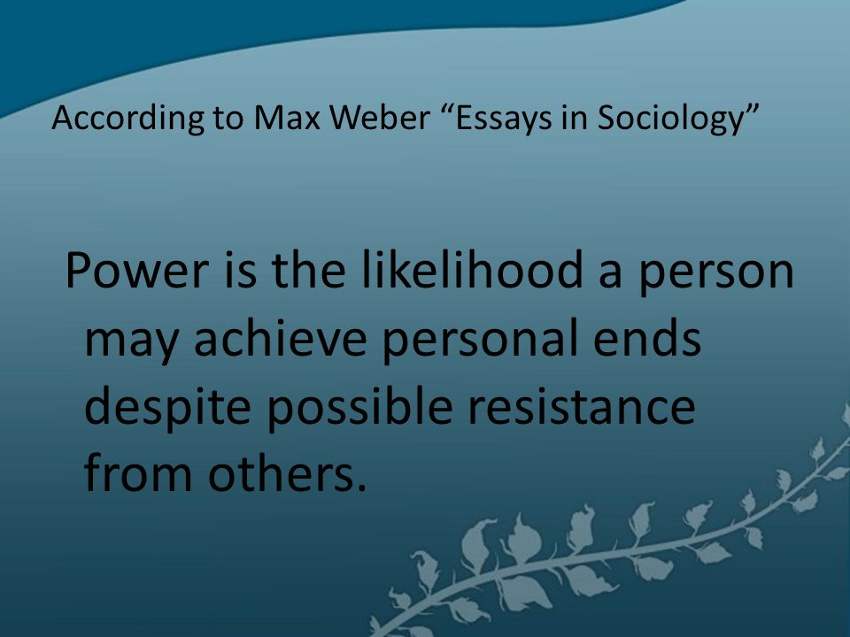 power in sociology essay