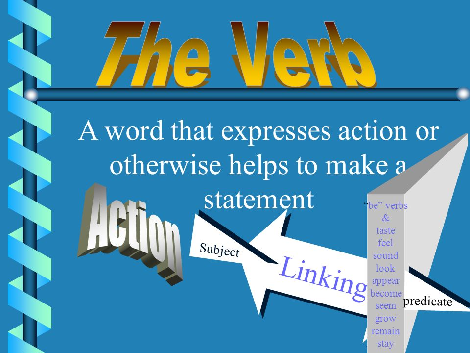 . What is a VERB