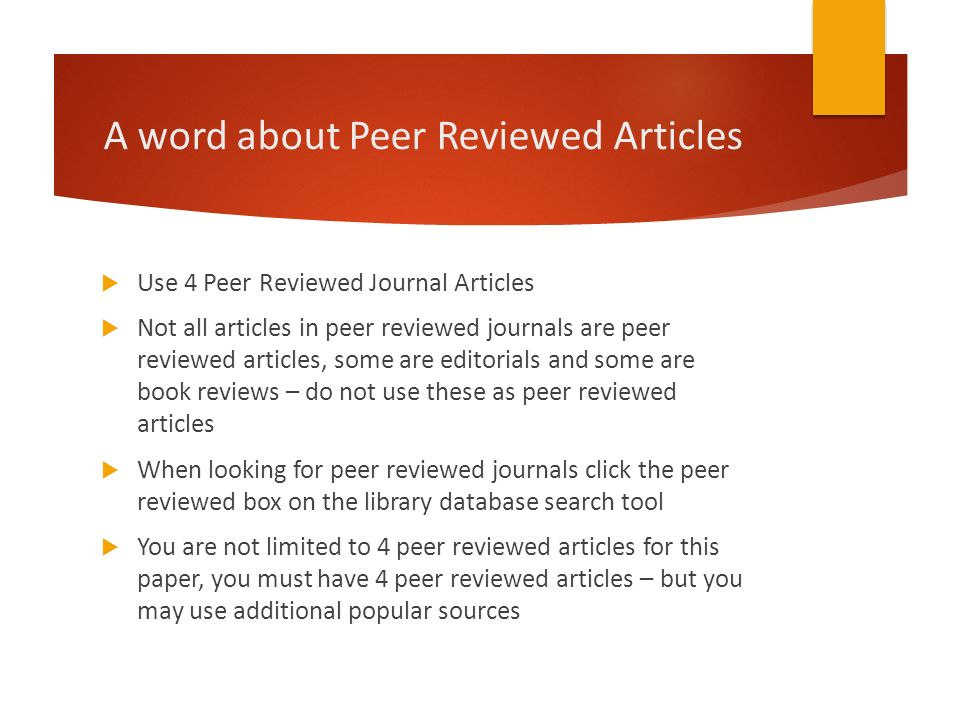 Literature review on journal articles