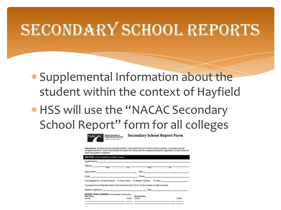 Senior PARENT Presentation Department of Student Services Hayfield ...